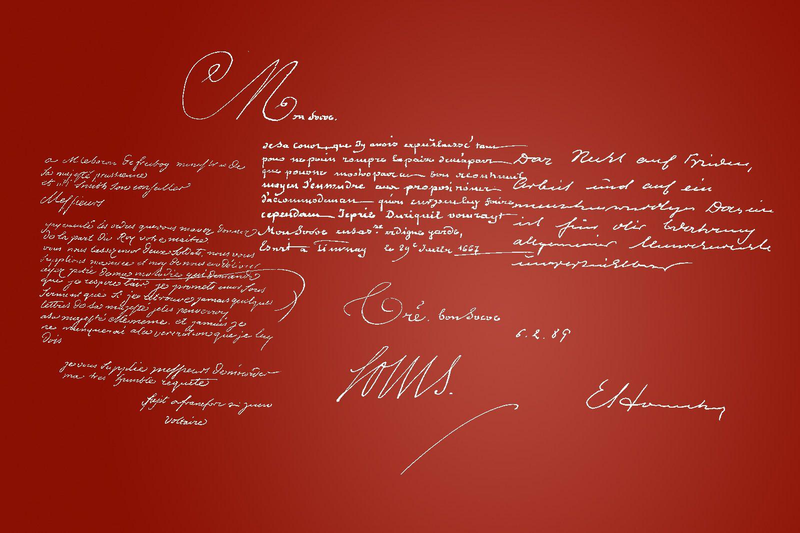Handschriften, Die Ausstellung, Kujau Kabinett